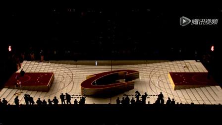球场塌陷了?NBA骑士队场地投影