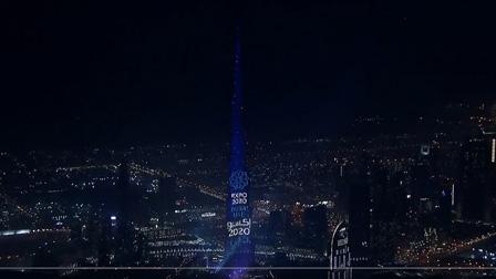 迪拜哈利法塔LED显示墙