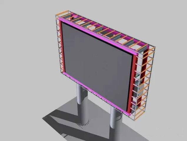 【简介】大型led户外显示屏钢结构的设计要求