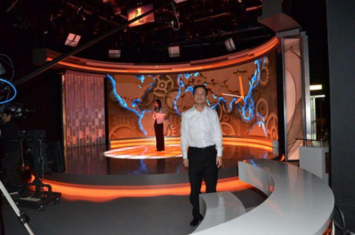 凤凰卫视香港台新闻中心室内LED显示屏_深圳