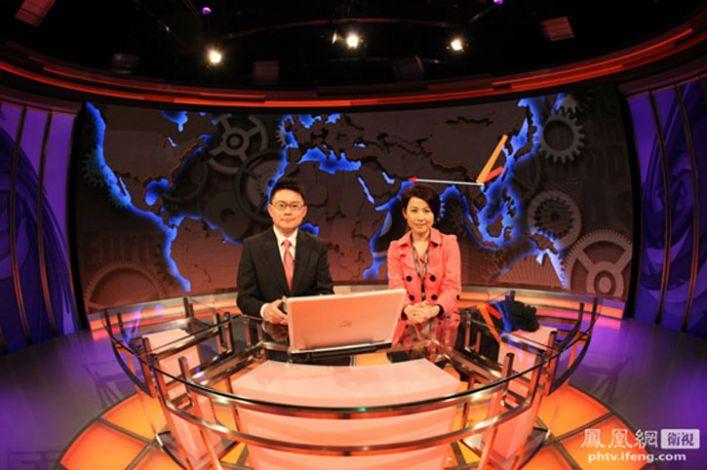凤凰卫视香港台新闻中心室内led显示屏_深圳市