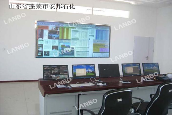 蓬莱市安邦石化dlp拼接大屏幕显示系统