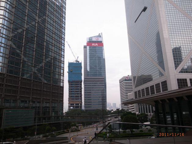 香港aia友邦金融中心户外全彩led