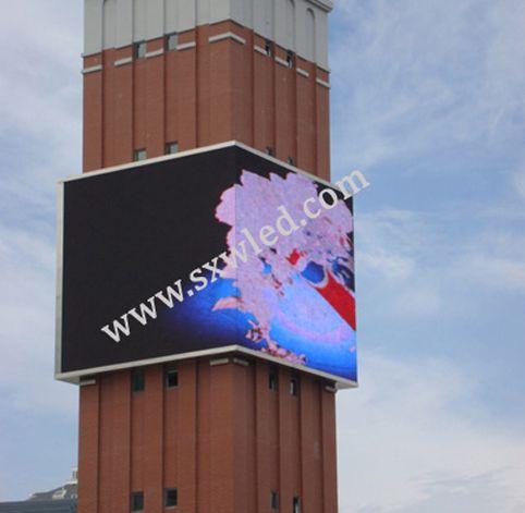 呼和浩特市钟楼户外全彩LED显示屏大屏幕
