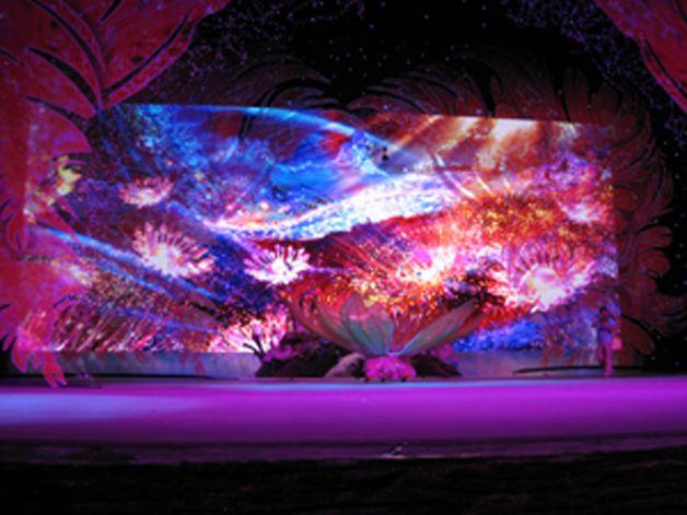 江苏常州恐龙大剧院室内全彩LED显示屏